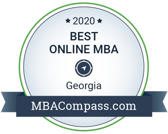 2020 Best Online MBA in Georgia by MBACompass.com